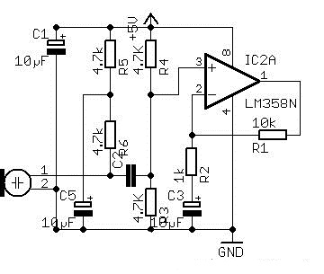 Need a simple low power pre-amp circuit for electret