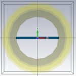 Front view of the Horizontal dielectric slab in the waveguide.PNG