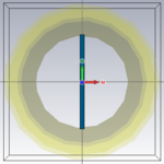 Front view of the Vertical dielectric slab in the waveguide.PNG