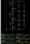 3 phase delta 230V AC supplies 6 led's show current direc.png