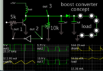 boost conv controlled by invert-gate 23kHz 5v to 13v led load.png