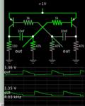 astable multivibrator 2 PNP peaks 1_35 V from 1V supply.png