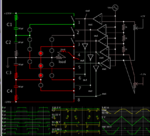 5-level diode-clamped 5 opamps 3 inv-gates 8 ana-switches load gets 50VAC sine-like.png
