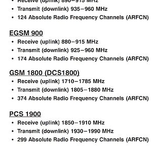 (Telecom) GSM Frequency Ranges (Uplink & Downlink)