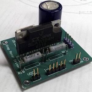 Front view of the stepper motor driver board.