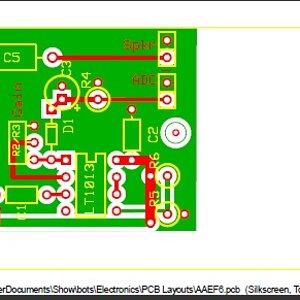 aaef pcb - printed circuit board layout, ordered from ExpressPCB
