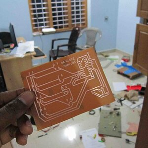 Self designed PCB using toner transfer method