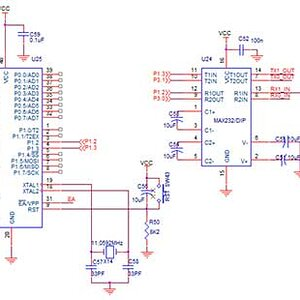 circuit diagram to interface zigbee with 8051