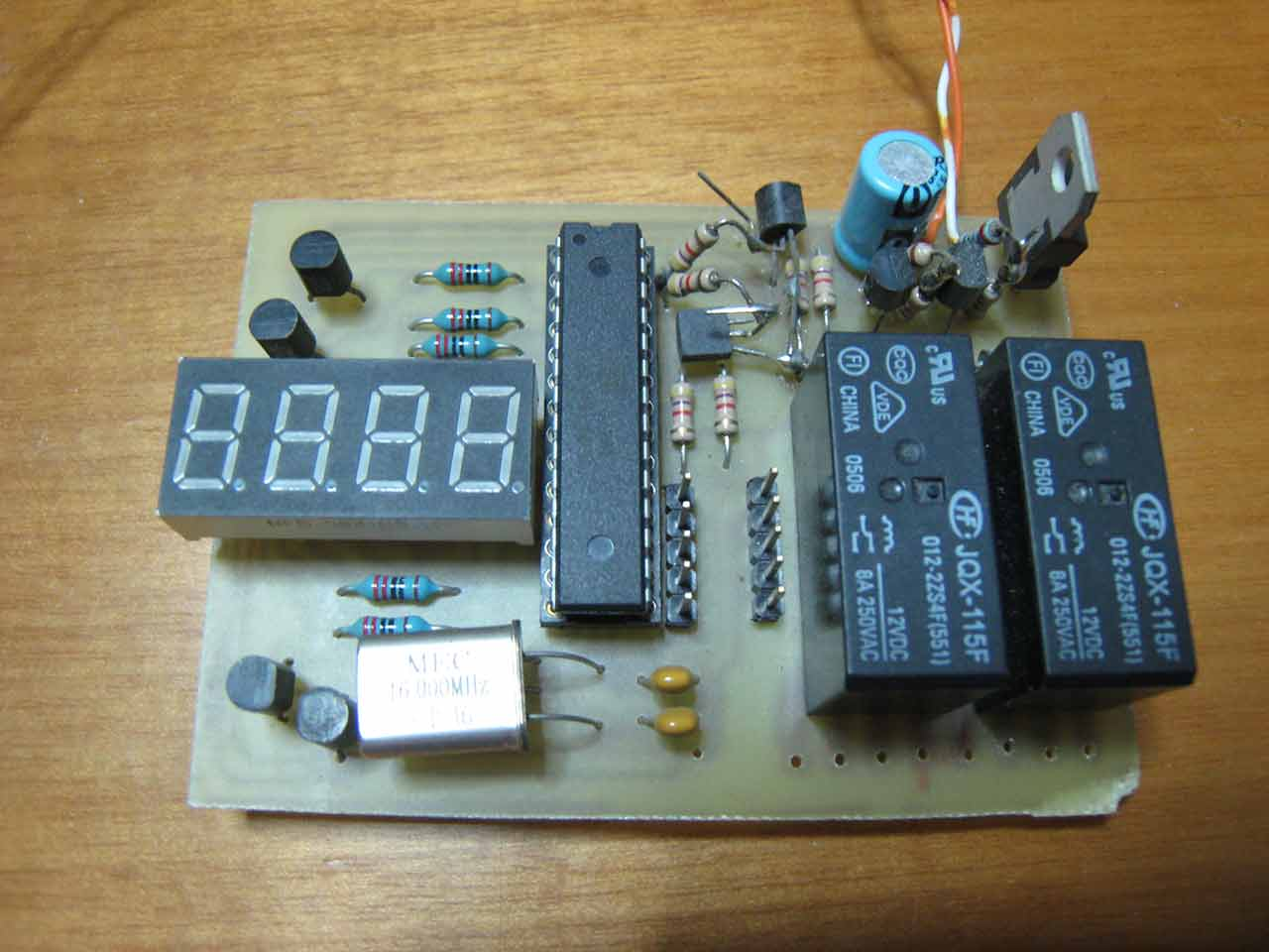 Delay counter with relay